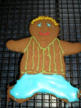 Gingerbread Stripy