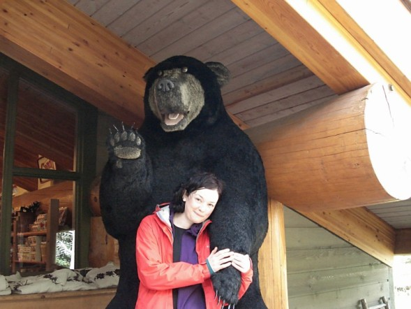 Susie, with bear