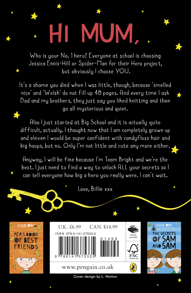 Billie Bright- the back cover blurb